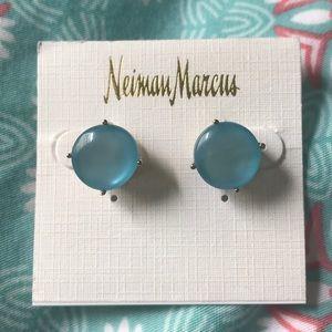 Large blue Neiman Marcus stud earrings